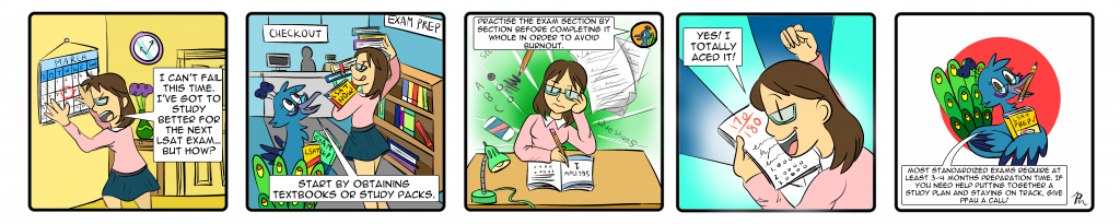 LSATComic 1024x205 Overcoming Scary Standardized Exams by Lisa Pfau & Patricia Huang