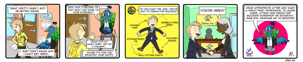 DressforSuccess fullcomic 1024x210 Graduating with a BA doesnt mean youll end up a Barista