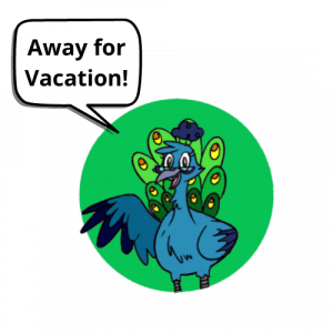 Add a heading 300x300 Away for Vacation until September